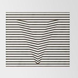 optical illusion Throw Blanket