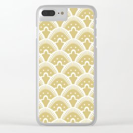 Fan Pattern Gold 201 Clear iPhone Case