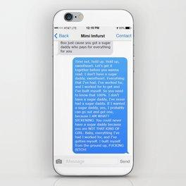 SHANGELA SUGAR DADDY TEXT iPhone Skin
