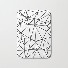 Random delaunay triangulation - white Bath Mat