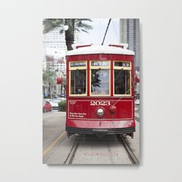 New Orleans Canal Street Car Metal Print