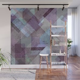PLUM TURQUOISE ABSTRACT GEOMETRIC Wall Mural