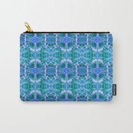 Psychedelic Kaleidoscope Sea Foam Pattern Carry-All Pouch