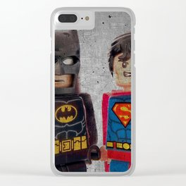 Superheroes Clear iPhone Case