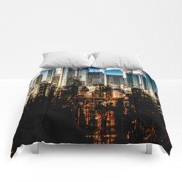 Frankfurt Cityscape Comforters