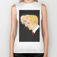 shaun of the dead Biker Tanks featuring Simon Pegg - Shaun Of The Dead, Hot Fuzz and The World's End by Tomcert