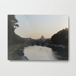 The Vatican from the Tiber River Metal Print
