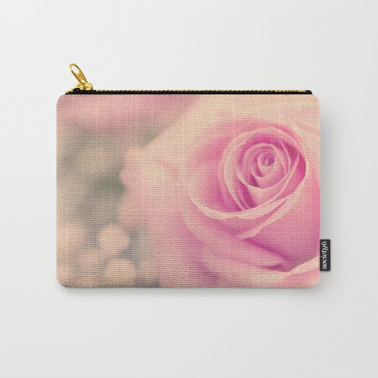Vintage roses flowers floral - Pink rose flower bunch #Society6 Carry-All Pouch
