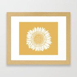 Yellow Sunflower Drawing Framed Art Print