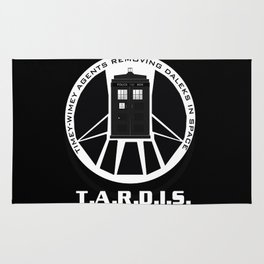 Agents of TARDIS black and white Agents of Shield, Doctor Who mash up Rug