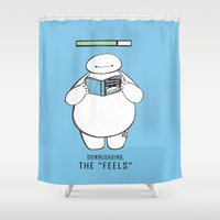 tfios Shower Curtains featuring The Feels. by Alexis Pilato
