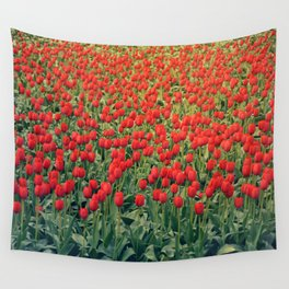 Tulips field #2 Wall Tapestry