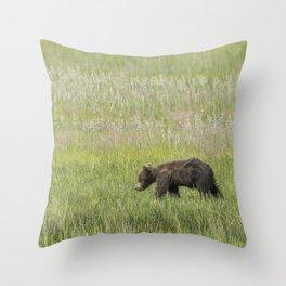 Young Brown Bear Cub, No. 2 Throw Pillow