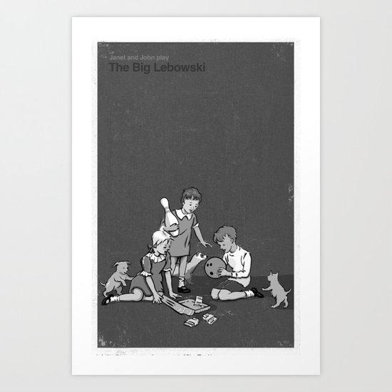 Janet And John Play The Big Lebowski Art Print