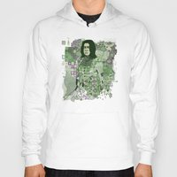 snape Hoodies featuring Portrait of a Potions Master by Karen Hallion Illustrations