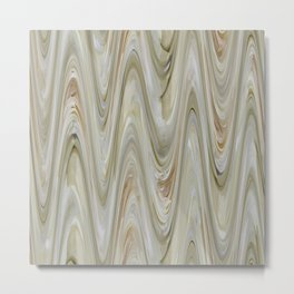 Zigzag Off Whites Metal Print