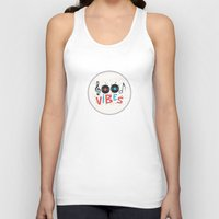 good vibes Tank Tops featuring Good Vibes by Word Quirk