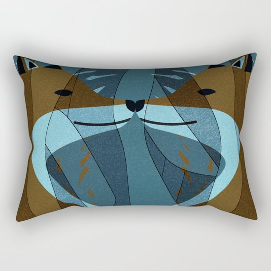 Gorgeous Foxes Kiss Design Rectangular Pillow