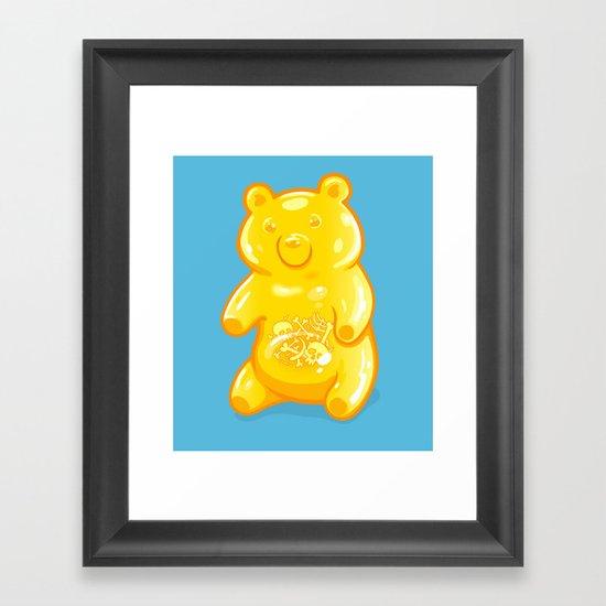Grizzly Gummy Framed Art Print