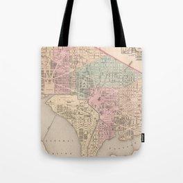 Vintage Map of Washington DC (1857) Tote Bag