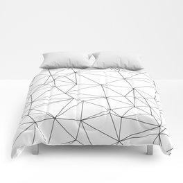 Black and White Geometric Minimalist Pattern Comforters