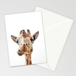 Funny Giraffe Portrait Art Print, Cute Animals, Safari Animal Nursery, Kids Room Poster Stationery Cards