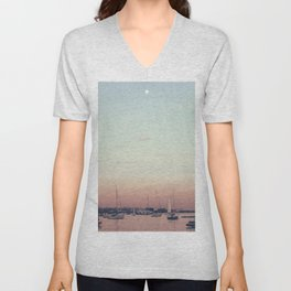 Sailing on the Boston Harbor Unisex V-Neck
