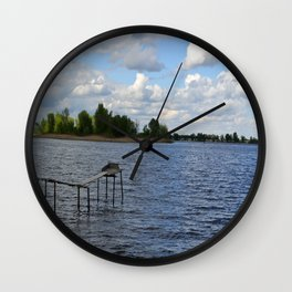 Landscape on the river Wall Clock