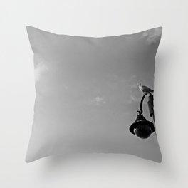 Seagull on lantern Throw Pillow