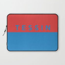 Tessin region switzerland country flag name text swiss Laptop Sleeve
