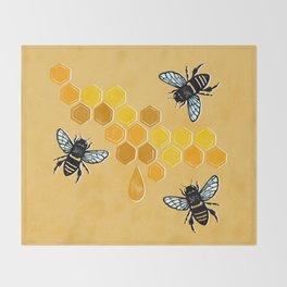 """""""Honeybees"""" Throw Blanket"""
