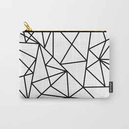 Black white modern abstract geometrical pattern Carry-All Pouch