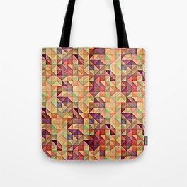 Triangular Patchwork Tote Bag