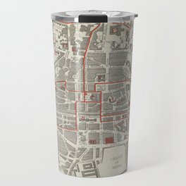 Vintage Map of Rennes France (1905) Travel Mug