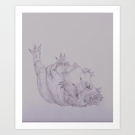 Resting Tyrannosaur  Art Print