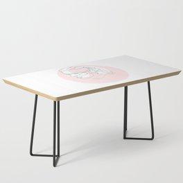 Princess Organa - single line art Coffee Table