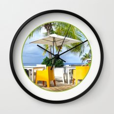 Caribbean Beach Wall Clock