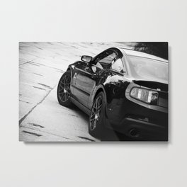 2012 Shelby GT-500 side shot black and white Metal Print