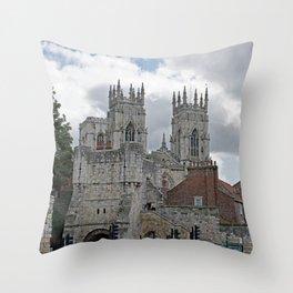York Minster and Bootham Bar Throw Pillow