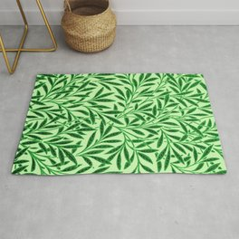 William Morris Willow Pattern, Light Jade Green Rug