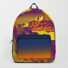 Mountain landscape colorful illustration painting Backpack