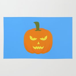 Evil light Halloween Pumpkin Rug
