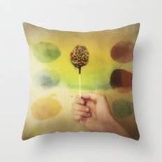 Once Upon a Time a Colorful Candy Throw Pillow