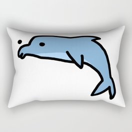 Dolphin Dude | Veronica Nagorny Rectangular Pillow
