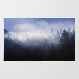 Mist in the Trees of Alaska Rug