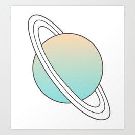 Saturn planet Art Print