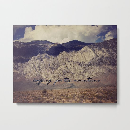longing for the mountains Metal Print
