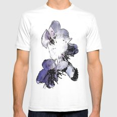CHERRY BLOSSOMS. Mens Fitted Tee MEDIUM White