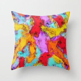 Floating temperatures Throw Pillow