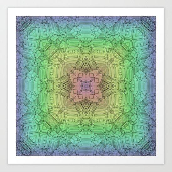 Faded Symmetry Art Print